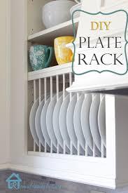diy inside cabinet plate rack plate racks tutorials and