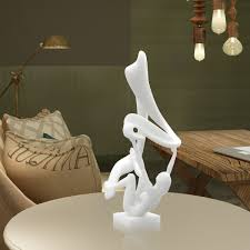 abstract home decor best and cheap white tomfeel flutter 3d printed abstract sculpture