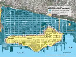 Map Nj New Hoboken Flood Map With Water Levels Post Hurricane Sandy