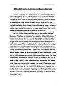 Related GCSE William Blake essays