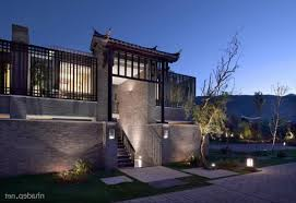 chinese style house entrance with solid wall concrete and brick