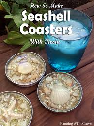 seashell coasters made with resin resin shell and craft