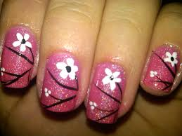 how to draw a simple flower on your nails the most beautiful