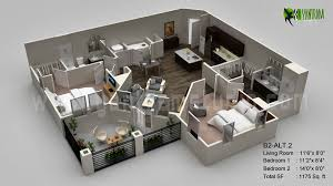 3d floor plan visualization vietnam floor plans pinterest