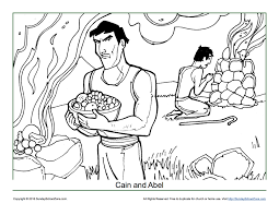 cain and abel coloring page children u0027s bible activities sunday