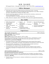 Skill Set Resume Examples by Office Manager Advice Manager Resume Examples 16 Program Manager
