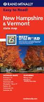 Nashua Zip Code Map by Rand Mcnally Easy To Read New Hampshire Vermont Rand Mcnally