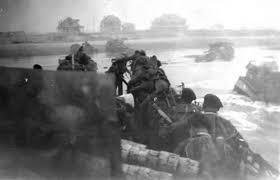 Beach landing on D-Day