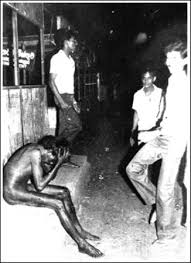 Sinhalese mob humiliate and torture Tamil Man in 1983 riots