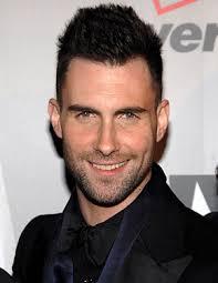 Adam Levine smiles