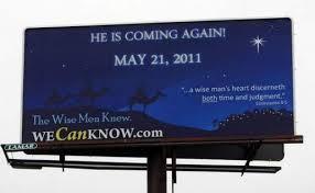 May 21 2011 Jesus Billboard NC