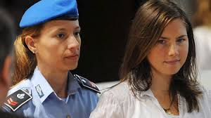 Defendant Amanda Knox, right,