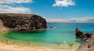 In Lanzarote - The beach