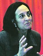 Raquel Amaya Martinez durante la ponencia en la Casa de Cultura.  Autor foto Miki lópez. LNE.ES