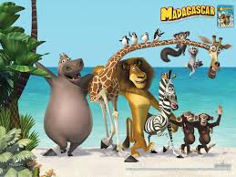 Here is a Madagascar desktop