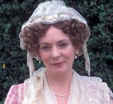 Kelly Lynch as Mrs. Bennet in Pride and Prejudice doffs the Regencys married ladys bonnet.