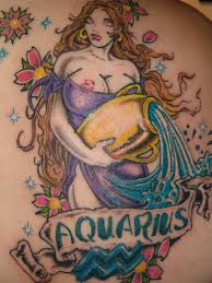 Tattoo Of A Aquarius Sign