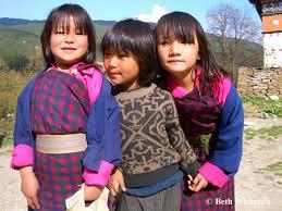 Young Girls in Bhutan