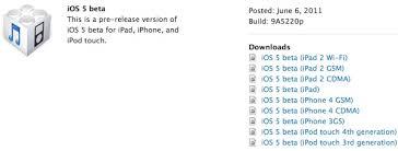 This Beta 1 version of iOS 5