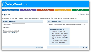 Screenshot of CollegeBoard.com