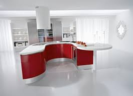 decorating modern red kitchen. Modern kitchen design with a minimalist