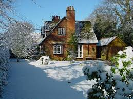 Wallpapers Backgrounds - Christmas Cottage Wallpapers 1