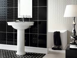 Affordable black and white bathroom tiles