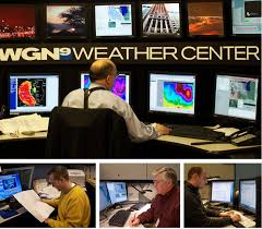 at the WGN Weather Center