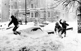 Children playing in Blizzard