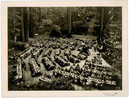 at Bohemian Grove, 1924.