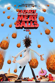 cloudy with a chance of meatballs movie poster Free Cloudy With a Chance of Meatballs 3 D POstcard