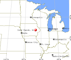 Cedar Rapids, Iowa map