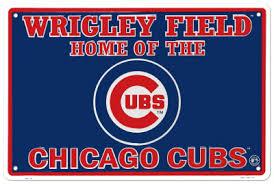 Chicago Cubs Tin Sign at