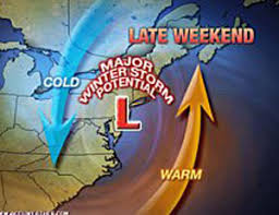 to a noreaster in the