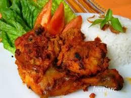 Ayam bumbu rujak Resep masakan Indonesia