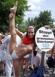 Naked cheerleaders supporting German Soccer ...