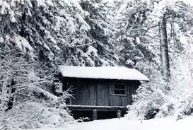کلبه در جنگل -زمستان