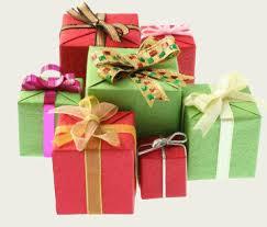 cadeaux dans hiver