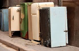 Row-of-old-refrigerators