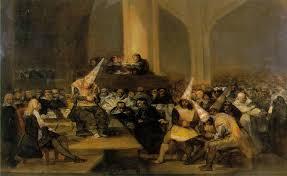 Sessão de um tribunal da Inquisição em Espanha