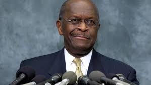 Herman Cain holds press