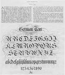 german calligraphy