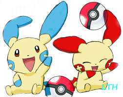 pika...chu __Pluse_and_Minun___by_Celsius_Ice_Rose