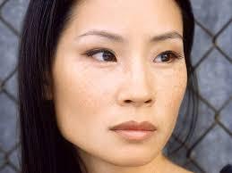 Lucy Liu's face