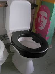 Public toilet with hidden spy cam is used for ...
