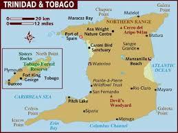 Map of Trinidad \x26amp; Tobago