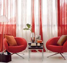 cortinas vermelhas para salas