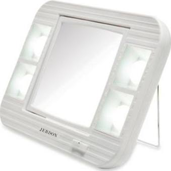 Jerdon LED 5X Lighted Makeup Mirror