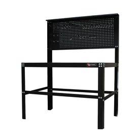 Steel Top Workbench Black