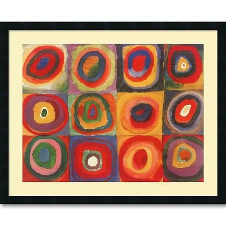 Amanti Art DSW01097 Farbstudie Quadrate